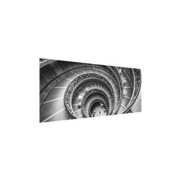 Glasbild - Bramante Treppe - Panorama
