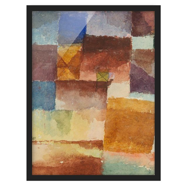 Bild mit Rahmen - Paul Klee - Einöde - Hochformat 3:4