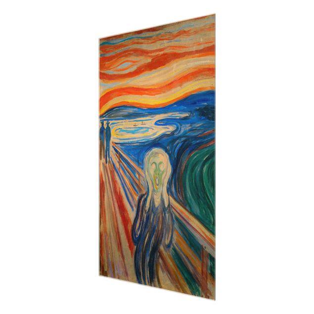 Glasbild - Edvard Munch - Der Schrei - Hochformat 3:2