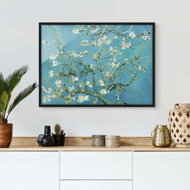 Bild mit Rahmen - Vincent van Gogh - Mandelblüte - Querformat 3:4