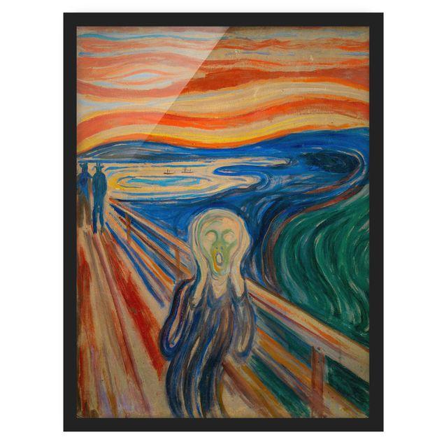 Bild mit Rahmen - Edvard Munch - Der Schrei - Hochformat 4:3