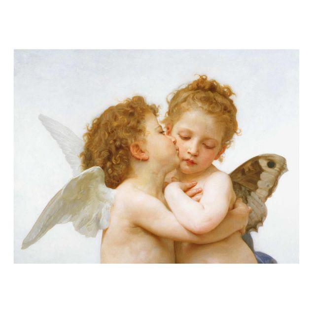 Glasbild - William Adolphe Bouguereau - Der erste Kuss - Querformat 3:4
