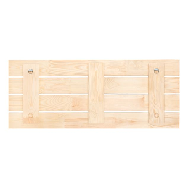 Wandgarderobe Holz selbst gestalten