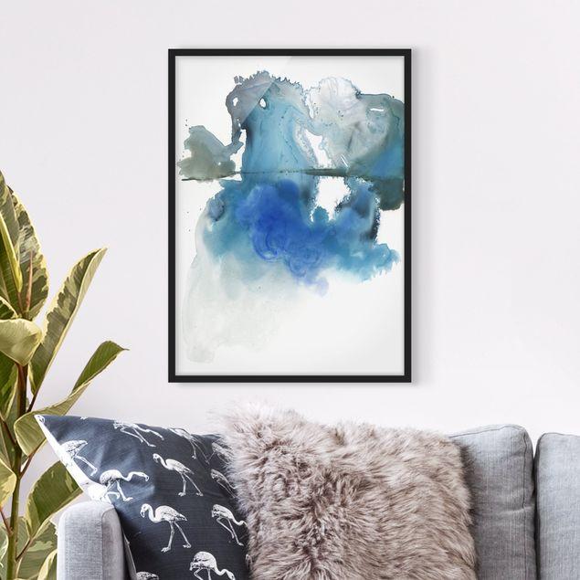 Bild mit Rahmen - Gletscherschmelze I - Hochformat 4:3