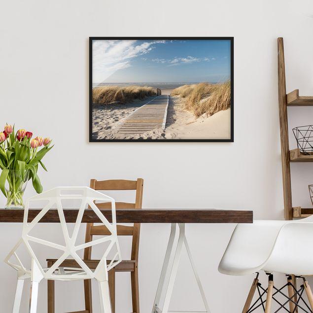 Bild mit Rahmen - Ostsee Strand - Querformat 3:4