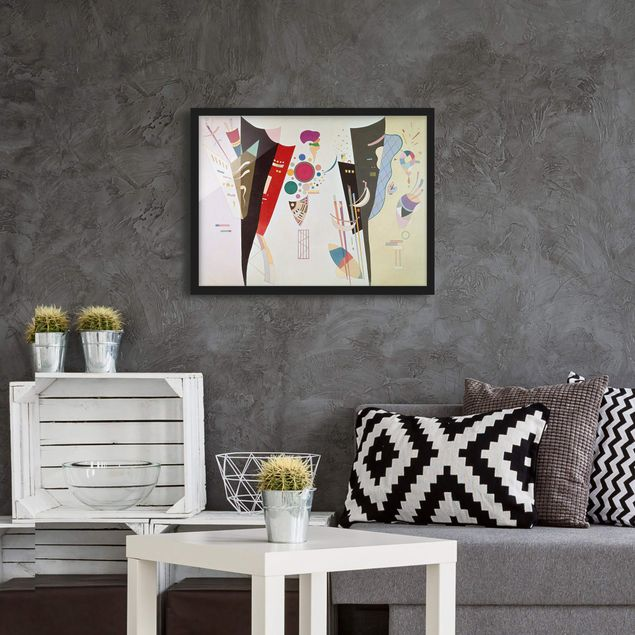 Bild mit Rahmen - Wassily Kandinsky - Wechselseitiger Gleichklang - Querformat 3:4