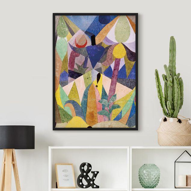 Bild mit Rahmen - Paul Klee - Mildtropische Landschaft - Hochformat 3:4