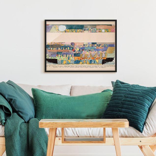 Bild mit Rahmen - Paul Klee - Der Mond - Querformat 3:4