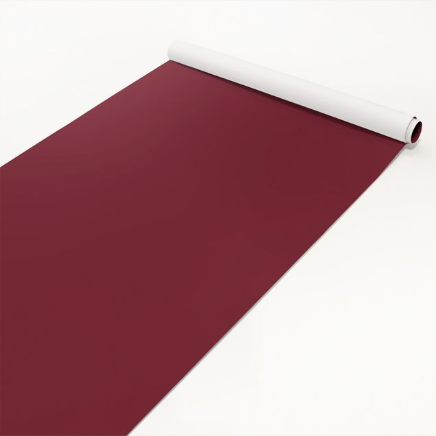 Möbelfolie dunkelrot einfarbig - Bordeauxrot - Klebefolie Möbel rot