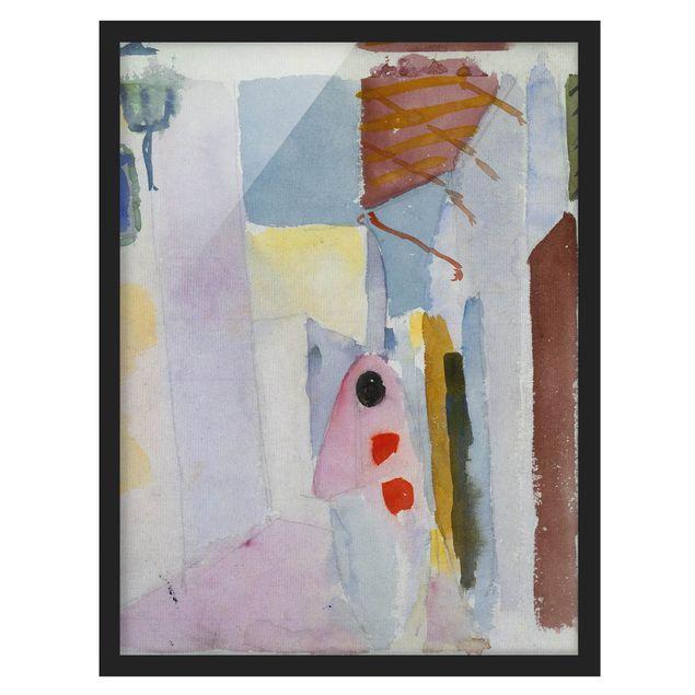 Bild mit Rahmen - August Macke - Frau auf der Straße - Hochformat 3:4