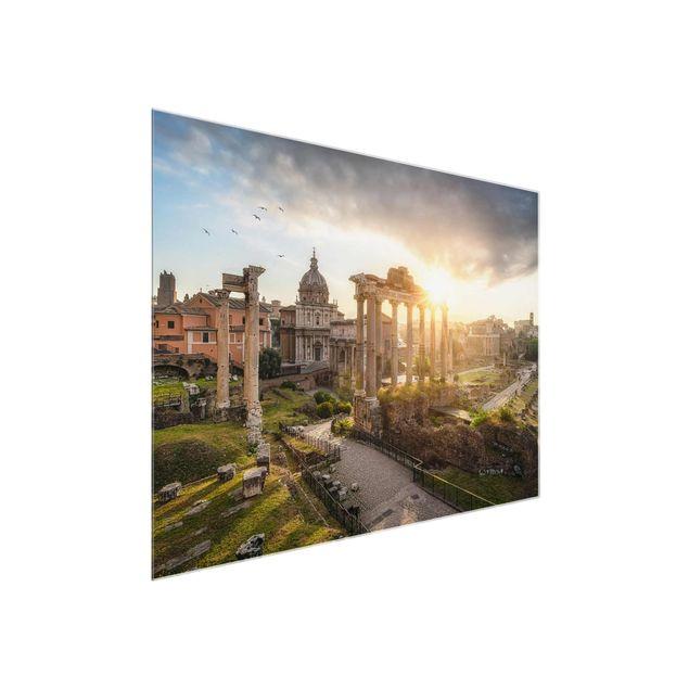 Glasbild - Forum Romanum bei Sonnenaufgang - Querformat 4:3