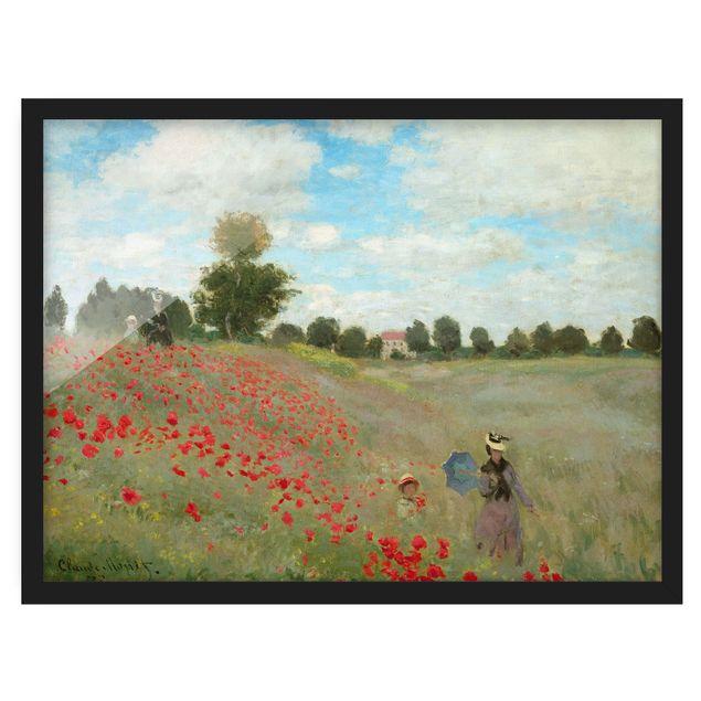 Bild mit Rahmen - Claude Monet - Mohnfeld bei Argenteuil - Querformat 3:4
