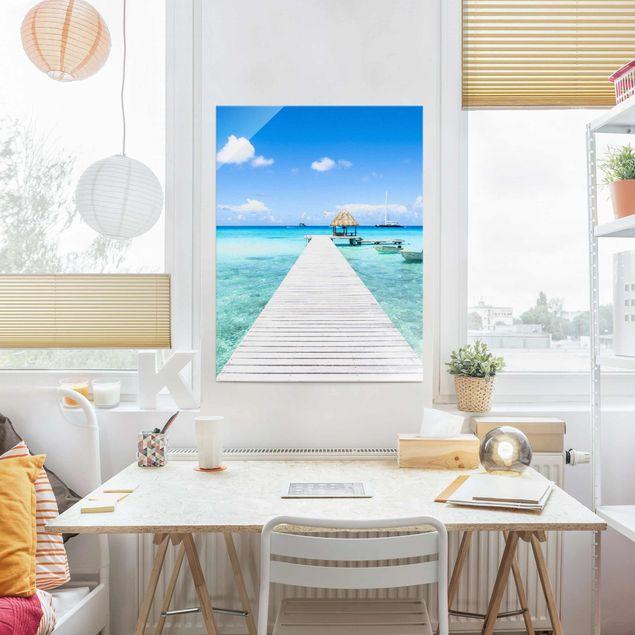 Glasbild - Urlaub in den Tropen - Hochformat 3:4