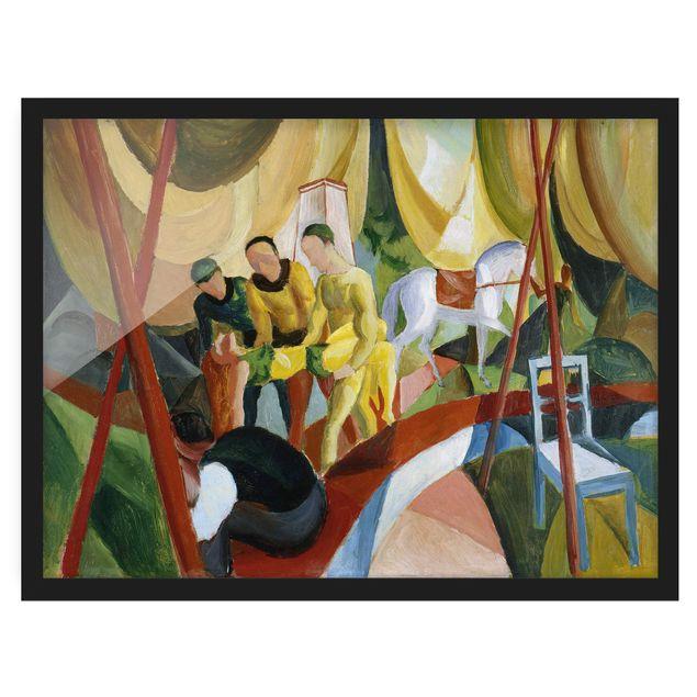 Bild mit Rahmen - August Macke - Zirkus - Querformat 3:4