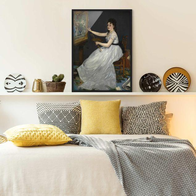 Bild mit Rahmen - Edouard Manet - Eva Gonzalès - Hochformat 3:4