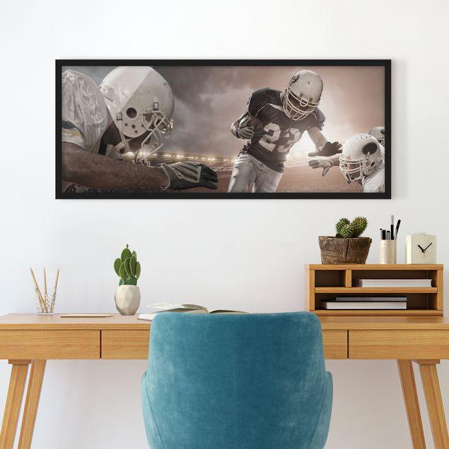 Bild mit Rahmen - Tackling - Panorama Querformat