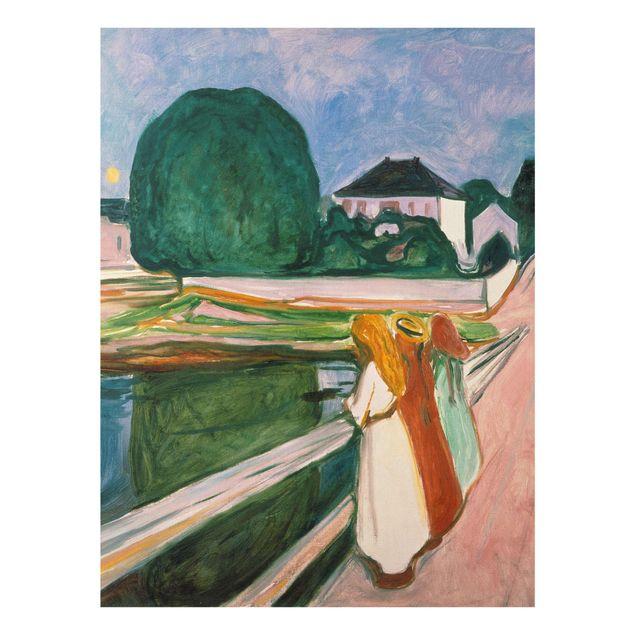 Glasbild - Edvard Munch - Weiße Nacht - Hochformat 4:3