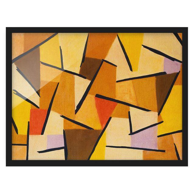 Bild mit Rahmen - Paul Klee - Harmonisierter Kampf - Querformat 3:4