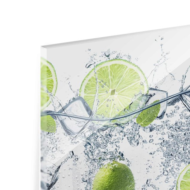 Glasbild - Erfrischende Limette - Quer 3:2