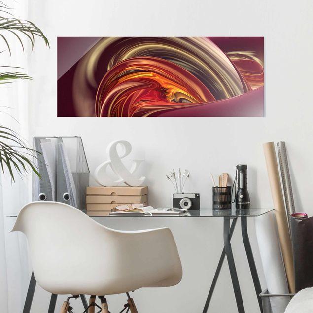 Glasbild - Fantastic Burning - Panorama Quer