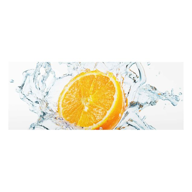 Glasbild - Frische Orange - Panorama Quer