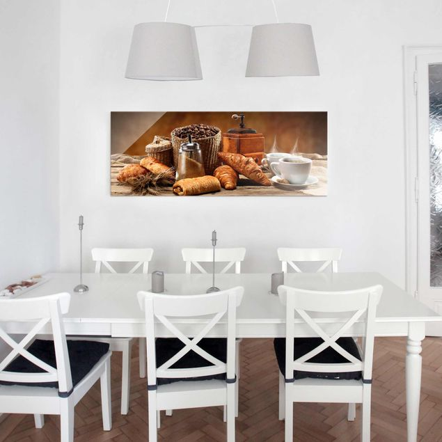 Glasbild - Frühstückstisch - Panorama Quer