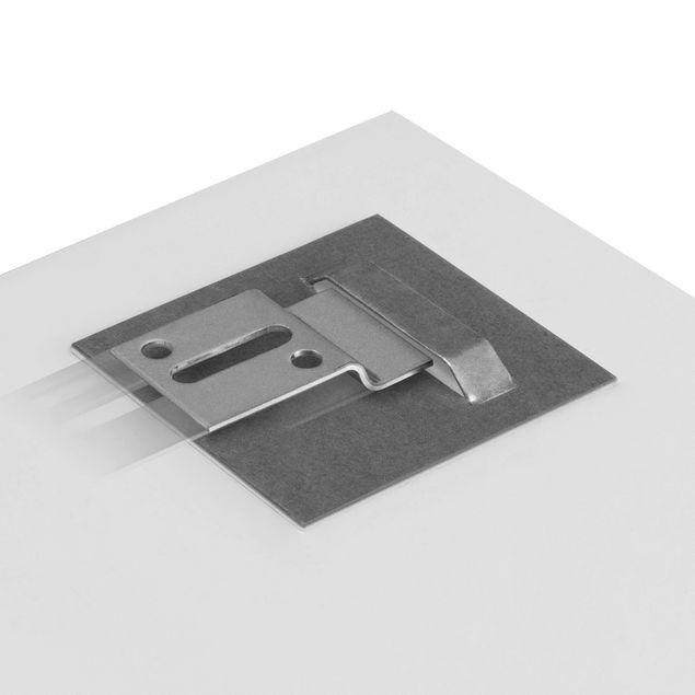 Glasbild - Gewürze auf Holzlöffel - Quadrat 1:1