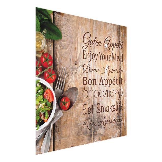 Glasbild - Guten Appetit - Quadrat 1:1