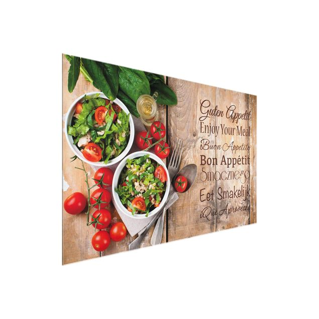 Glasbild - Guten Appetit - Quer 3:2