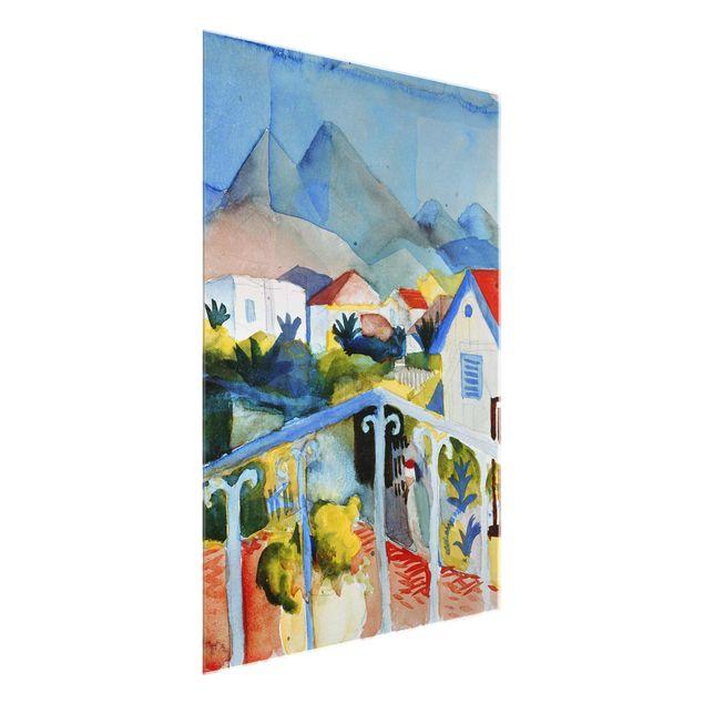 Glasbild - Kunstdruck August Macke - Saint Germain bei Tunis - Hoch 3:4