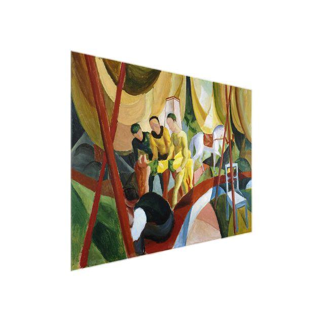 Glasbild - Kunstdruck August Macke - Zirkus - Quer 4:3