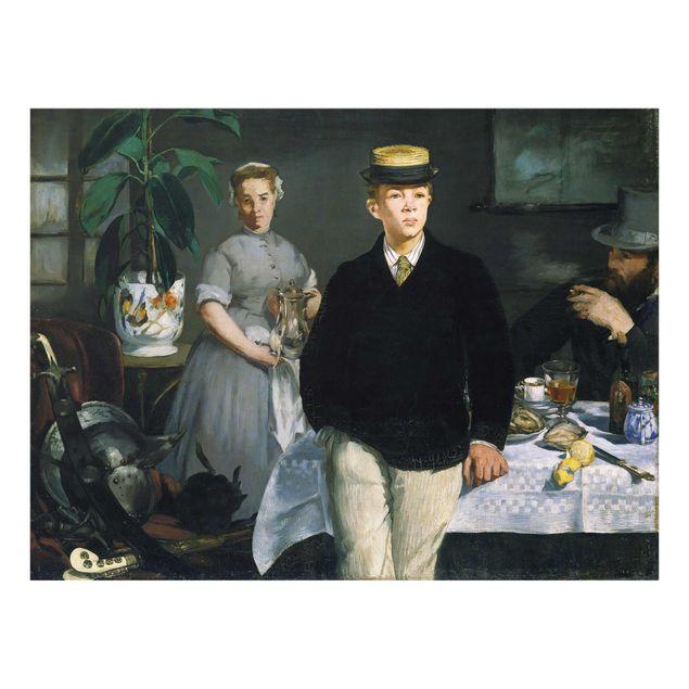 Glasbild - Kunstdruck Edouard Manet - Frühstück im Atelier - Quer 4:3