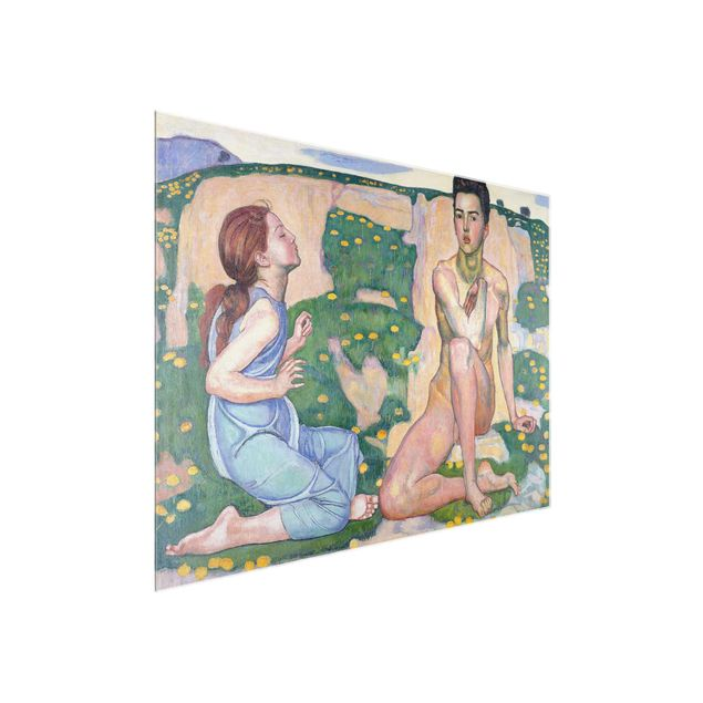 Glasbild - Kunstdruck Ferdinand Hodler - Der Frühling - Quer 4:3