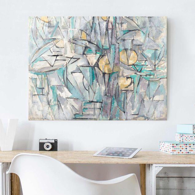 Glasbild - Kunstdruck Piet Mondrian - Komposition X - Quer 4:3