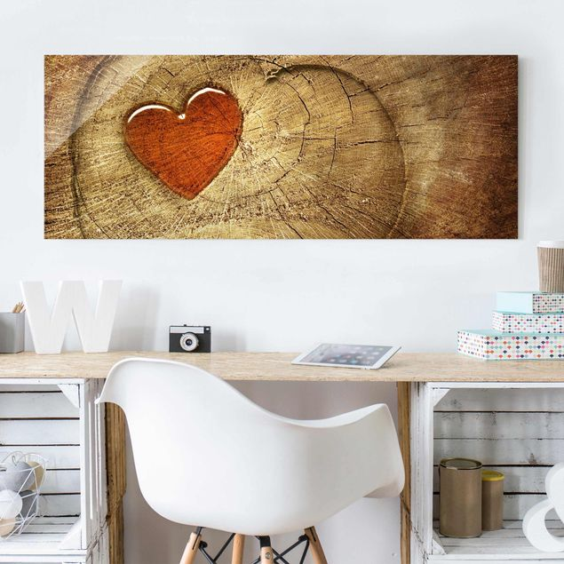 Glasbild - Natural Love - Panorama Quer
