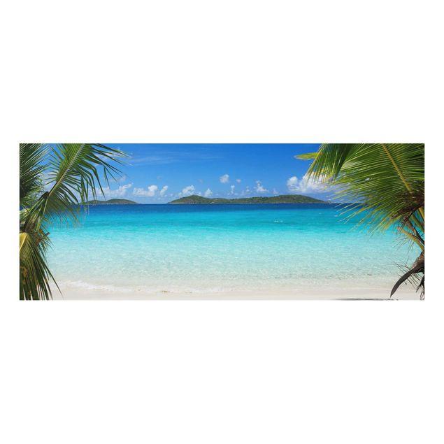 Glasbild - Perfect Maledives - Panorama Quer