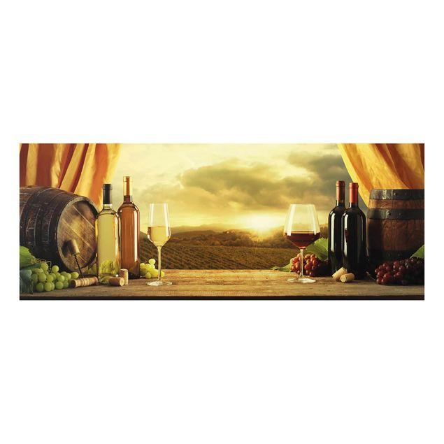 Glasbild - Wein mit Ausblick - Panorama