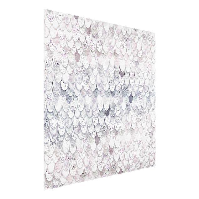 Glasbild - Meerjungfrauen Magie - Quadrat