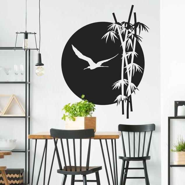 Wandtattoo Floral Bambus Vögel No.SF980 Bambus
