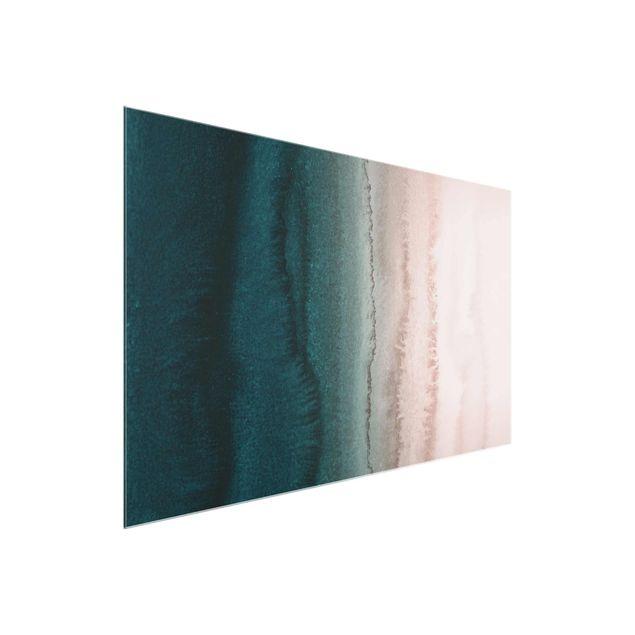 Glasbild - Spiel der Farben Meeresrauschen - Querformat