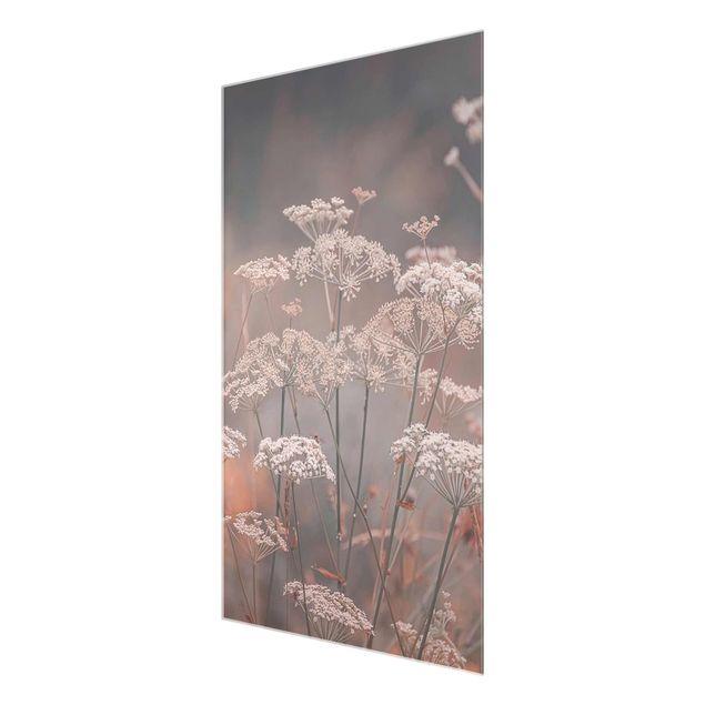 Glasbild - Wilde Doldenblüten - Hochformat