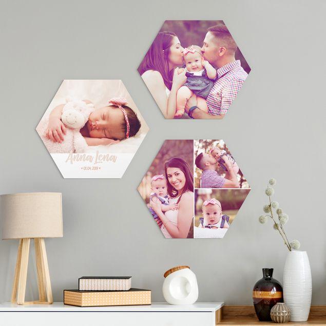 3-teiliges Hexagon Bild Forex selbst gestalten