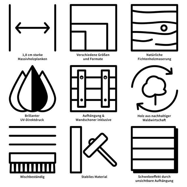 Holzbild Plankenoptik mit Magnetstreifen selbst gestalten