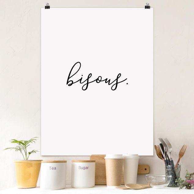Poster - bisous - Hochformat 3:4