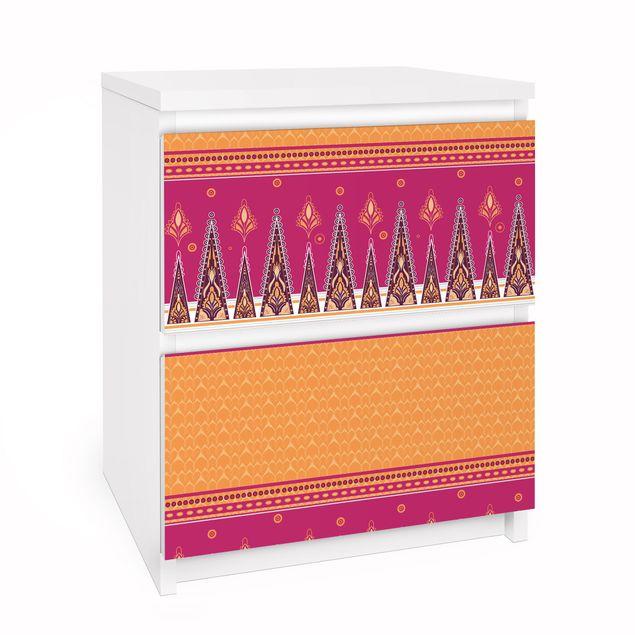 Möbelfolie für IKEA Malm Kommode - Selbstklebefolie Sommer Sari