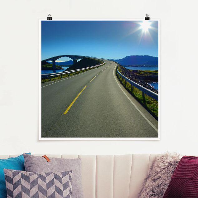 Poster - Bridge to Norway - Quadrat 1:1