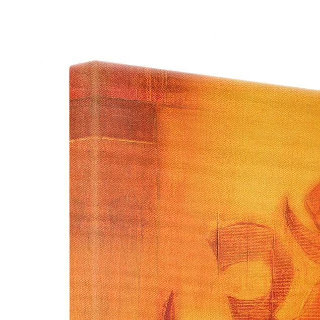 Leinwandbild Gold - Pemas Om - Quadrat 1:1