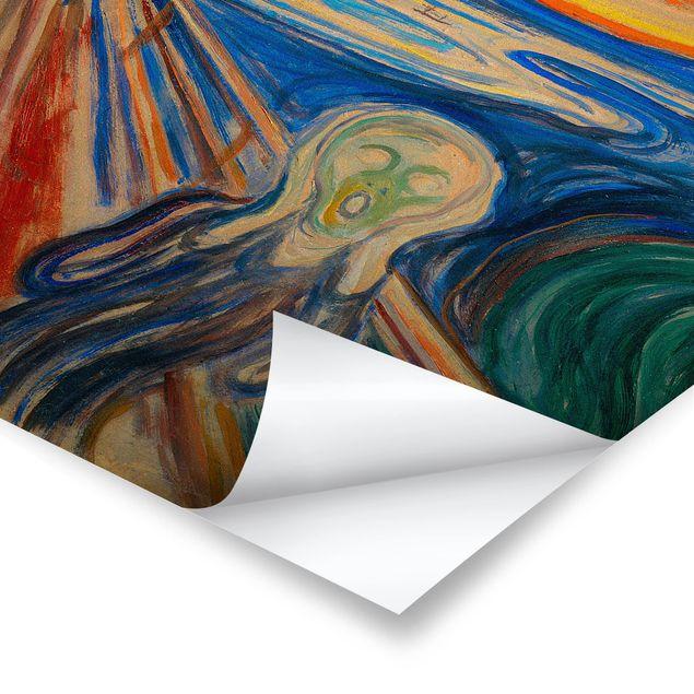 Poster - Edvard Munch - Der Schrei - Hochformat 3:2