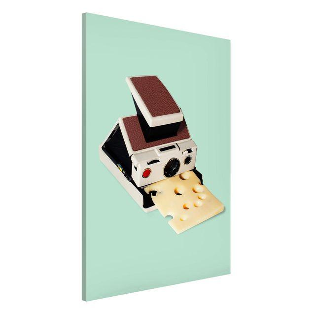 Magnettafel - Jonas Loose - Kamera mit Käse - Memoboard Hochformat 3:2