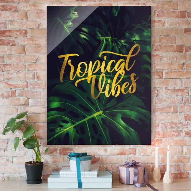 Glasbild - Dschungel - Tropical Vibes - Hochformat 4:3